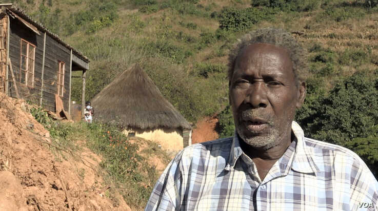 Everisto Gambire, whose home was totally destroyed by Cyclone Idai