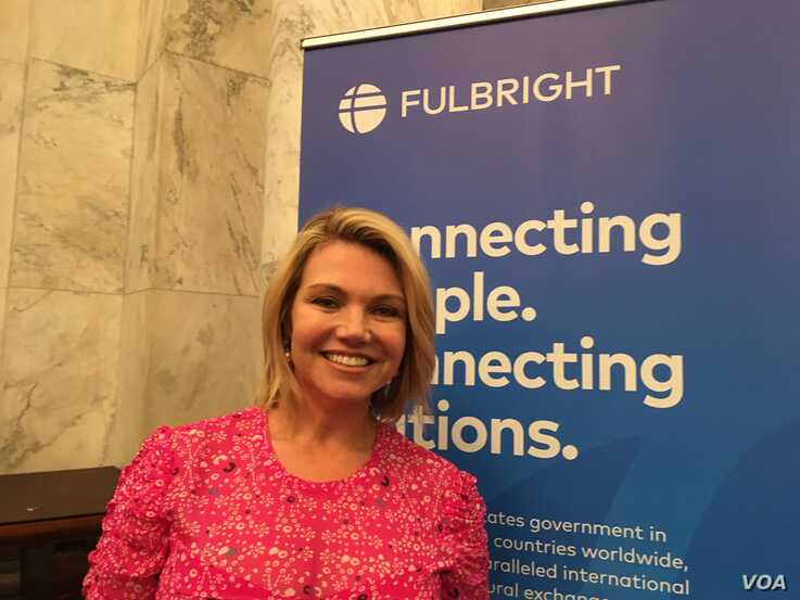 Former State Department spokesperson Heather Nauert is one of three new members appointed by President Donald Trump to the Fulbright Foreign Scholarship Board.