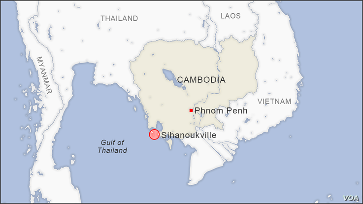 Map of Sihanoukville Cambodia