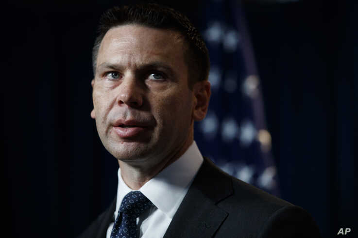 FILE - Department of Homeland Security (DHS) acting Secretary Kevin McAleenan speaks during a news conference in Washington, June 28, 2019.