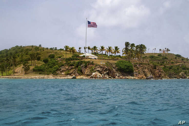 A view of Little St. James Island, in the U. S. Virgin Islands, a property owned by Jeffrey Epstein, July 9, 2019.