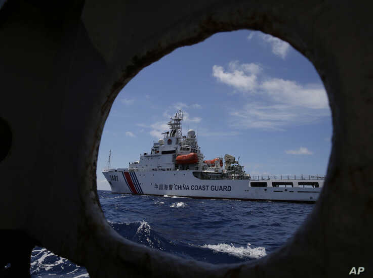 A Chinese Coast Guard ship is seen in the South China Sea, March 29, 2014.