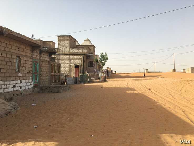 SOS Esclaves helped find the family a house in Mellah after they were freed in 2011 (E. Sarai/VOA)