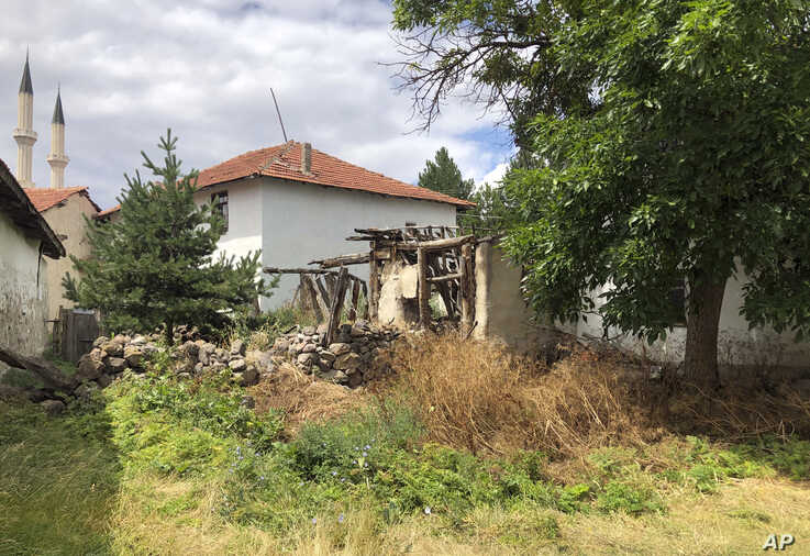 The remains of an old house where the great great grandfather of Boris Johnson once lived in Kalfat, a village in the Cankiri province, 100 kilometers (62 miles) north of the Turkish capital Ankara, Turkey, July 25, 2019.