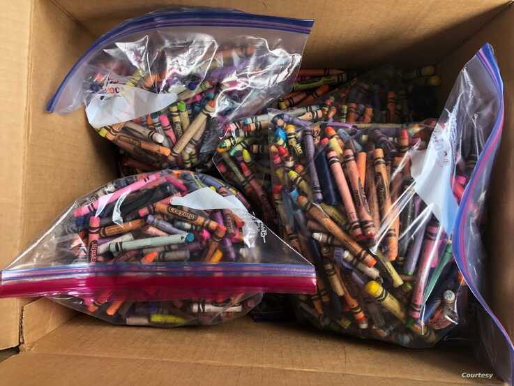 Kids Changemakers collects donated school supply to give to students who need them.