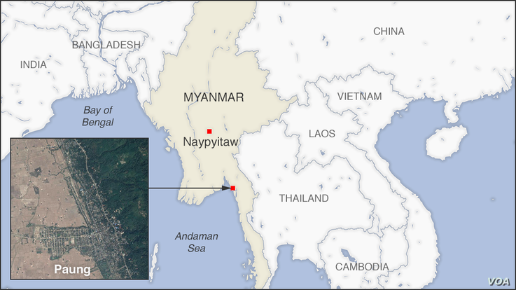 Map of Paung, Myanmar