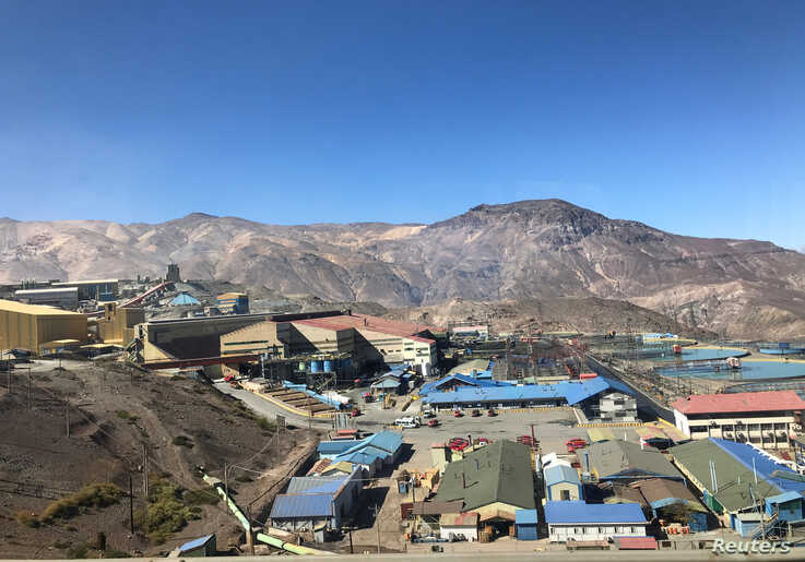 FILE - The Codelco El Teniente copper mine, the world's largest underground copper mine, is shown near Machali, Chile, April 11, 2019.