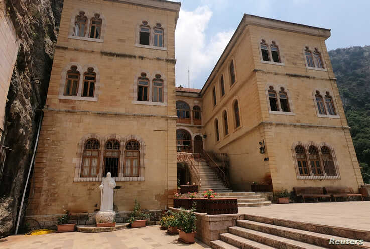 FILE - The Monastery of Saint Anthony of Qozhaya sits in the heart of the Qadisha valley, in Zgharta district, Lebanon, June 23, 2019.