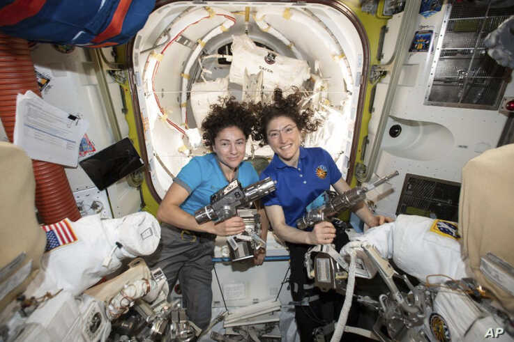 NASA Astronauts Perform Historic First All-female Spacewalk