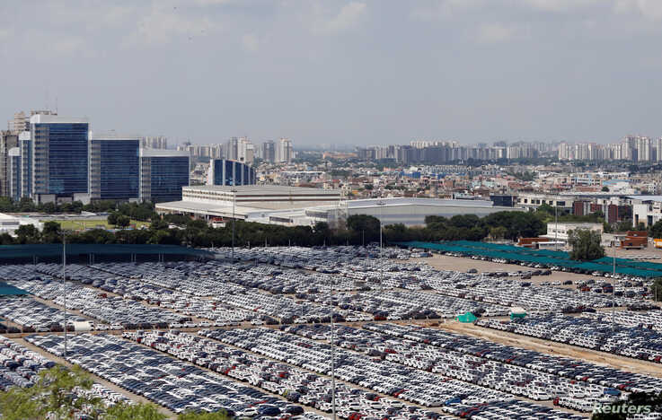 Cars are seen parked at Maruti Suzuki's plant at Manesar, in the northern state of Haryana, India, Aug. 11, 2019.
