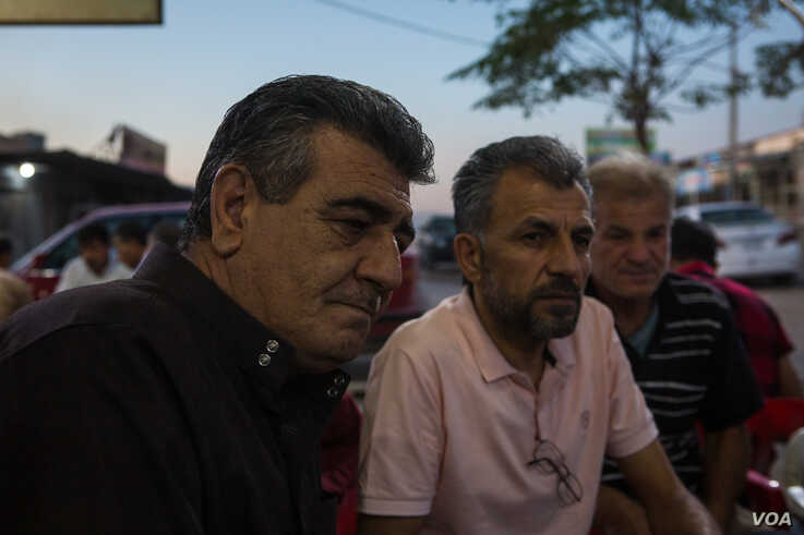 Mohammad Saeed Shekhahmed, a 53-year-old Syrian refugee in Iraq says the Syrian government needed to move into Kurdish areas to protect them from bombings on Oct. 14, 2019 in Duhok, Iraq. (VOA/Yan Boechat)
