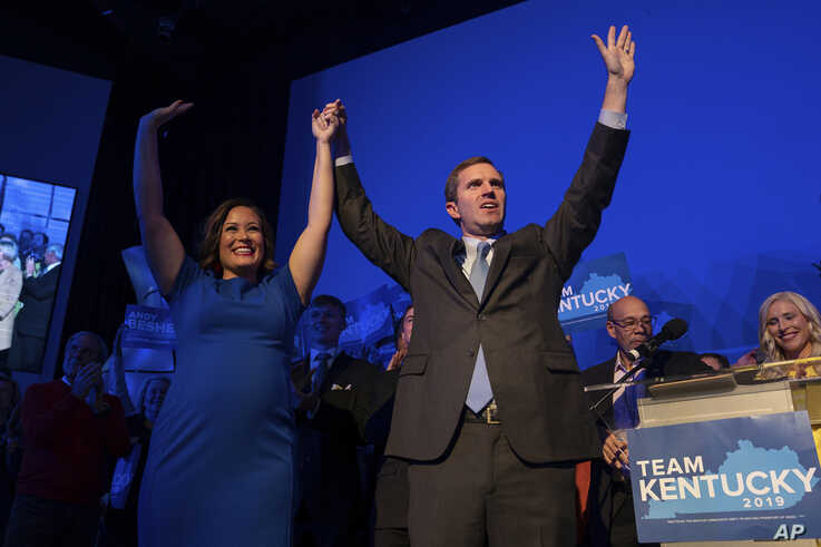 Democratic gubernatorial candidate and Kentucky Attorney General Andy Beshear, along with lieutenant governor candidate…
