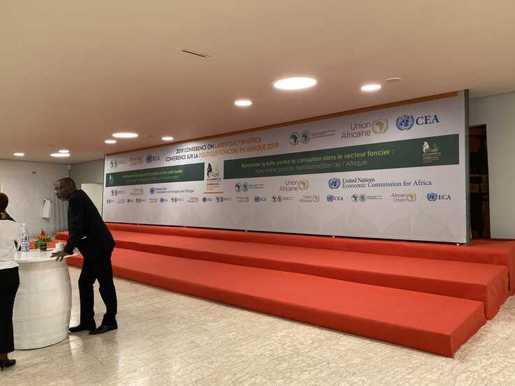 On Nov. 29, 2019, the United Nations Economic Commission for Africa, African Development Bank and African Union conference meet in Abidjan  held to find ways to end corruption in the land sector in Africa