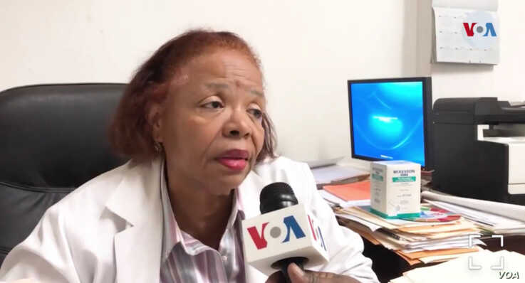 Dr. Jessy C Adrien, executive director of Haiti's government University Hospital. (Photo: J. Belizaire/ VOA Creole)