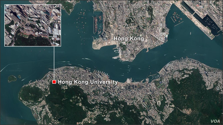 Map of Hong Kong University