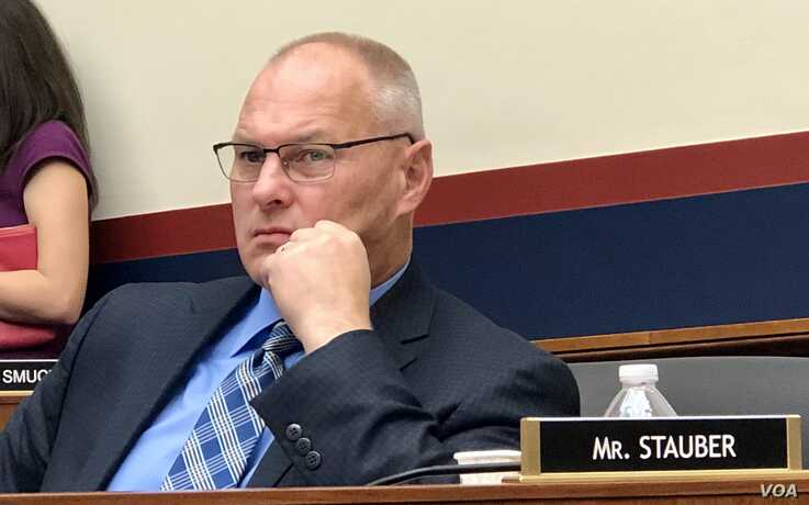 Rep. Pete Sauber (R-Minn) listens to testimony about the Boeing 737 MAX in House Committee on Transportation and Infrastructure