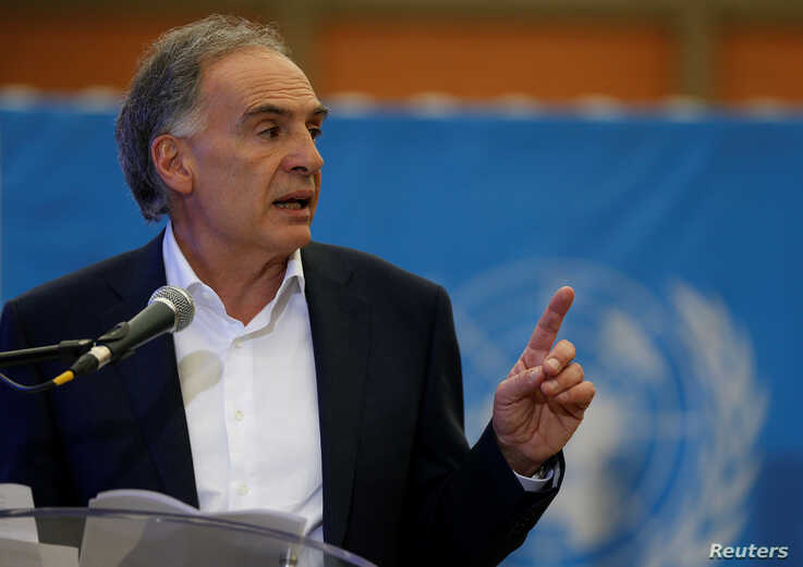 Jean Arnault, the U.N. Secretary-Generals Special Representative for Colombia and Head of the U.N. Mission to Colombia, speaks…