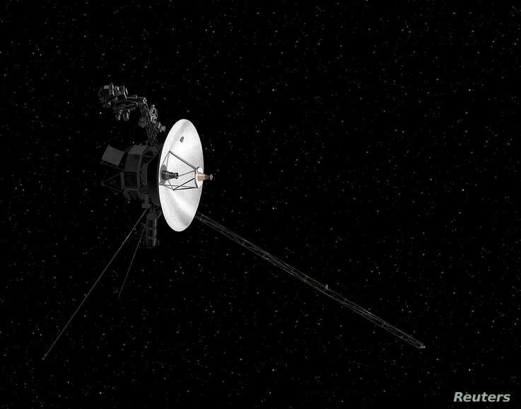 FILE PHOTO: NASA's Voyager spacecraft in space is shown in this artist's rendering obtained from NASA in Washington, DC, U.S.,…