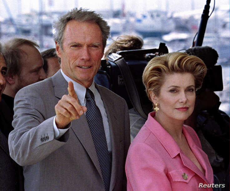 FILE PHOTO: President of the Jury at the 47th Cannes Film Festival, US director and actor Clint Eastwood (L) , and vice…