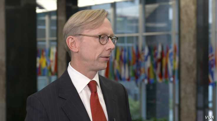 U.S. Special Representative for Iran Brian Hook speaks to VOA Persian at the State Department, Nov. 18, 2019.