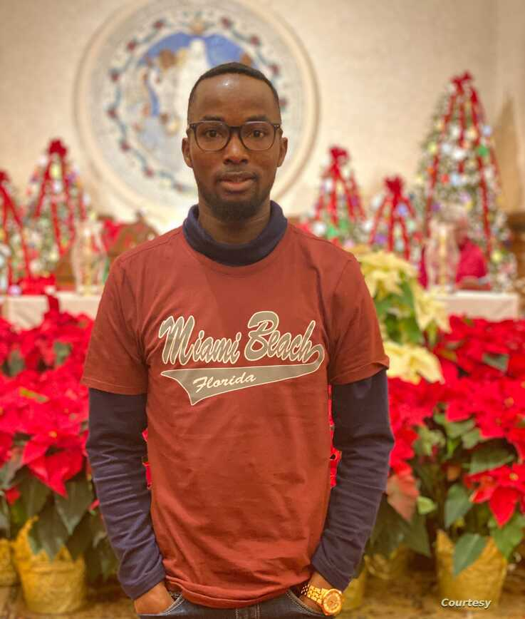 Augustine Achu traveled to Massachusetts from Washington DC to spend Christmas with a group of fellow Nigerian friends. (Courtesy photo Augustine Achu)