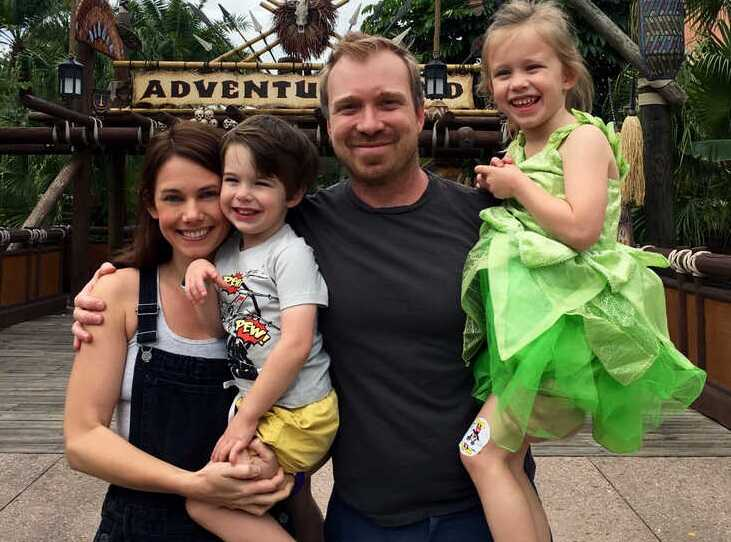 JD and Kate Dobson with their children at Disney World in Florida. (Photo courtesy Kate Dobson)
