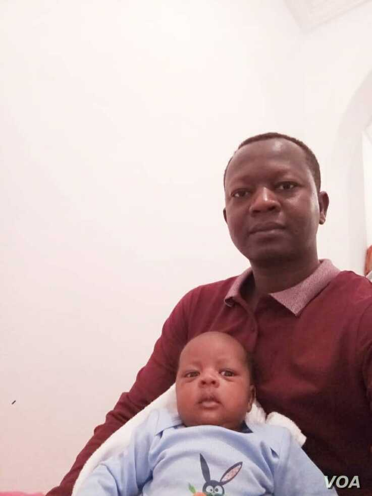 Abdelrasoul Ibrahim Omar and his new-born son in Tunisia, courtesy of Omar on Dec. 19, 2019.