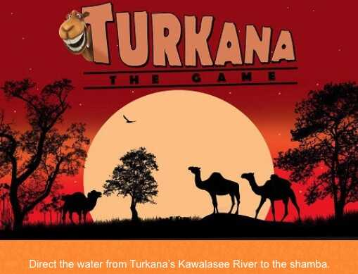 """""""Turkana,"""" a video game by Usiku Games, allows players to direct water from Kawalasee River to a farm."""