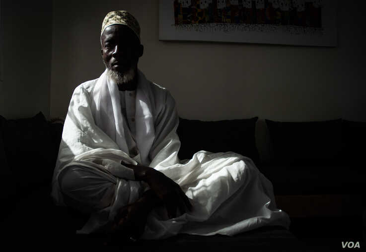 Mouhamed Niass, who runs a Koranic school in a Dakar suburb, poses for a photo, Dec. 13, 2019, in Dakar, Senegal. (Annika Hammerschlag/VOA)