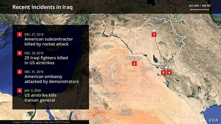 recent incidents in iraq