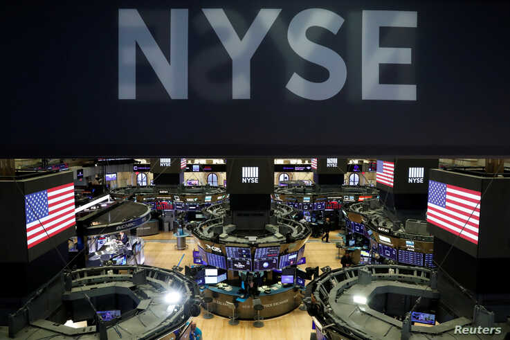 The floor of the the New York Stock Exchange (NYSE) is seen after the close of trading in New York, U.S., March 18, 2020.