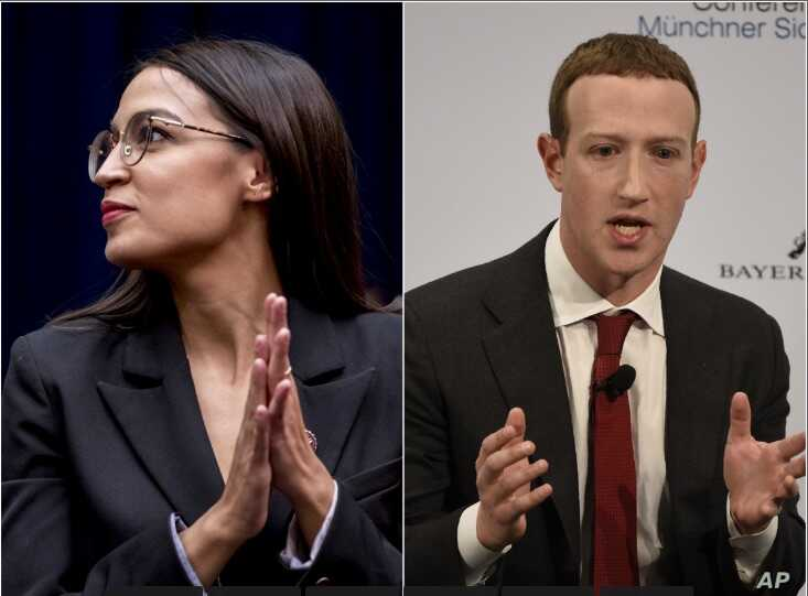 """Thirty-year-old Rep. Alexandria Ocasio-Cortez (D-NY), and Facebook founder Mark Zuckerberg, 35, are among the millennial generation's high-achieving """"mega""""-llennials."""