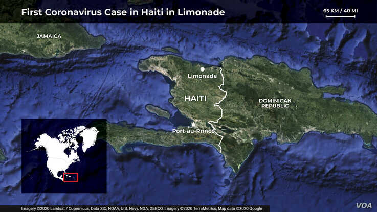 Map of Limonade, northern Haiti also showing Cape Haitian