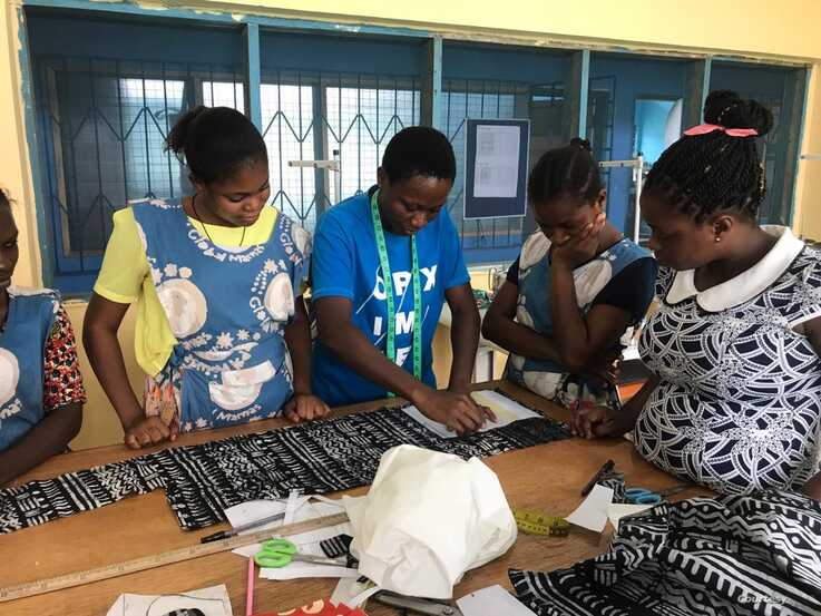 Employees of Global Mamas create samples of the face masks they hope will soon be used across the nation. (Photos Courtesy of Global Mamas)