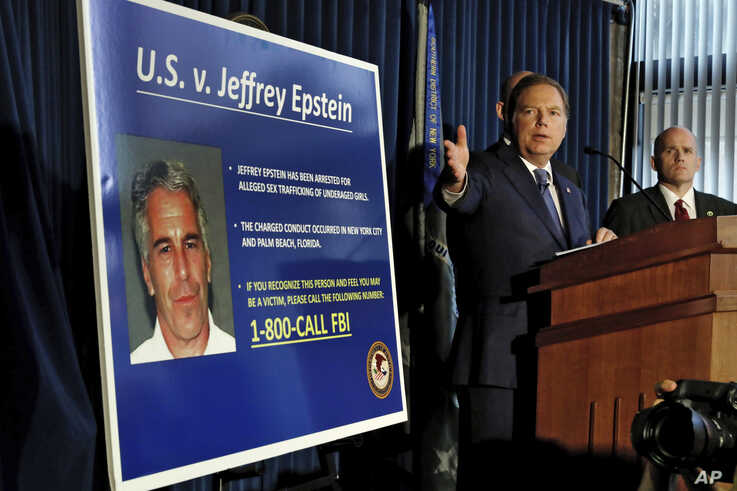 United States Attorney for the Southern District of New York Geoffrey Berman speaks during a news conference, in New York, Monday, July 8, 2019.