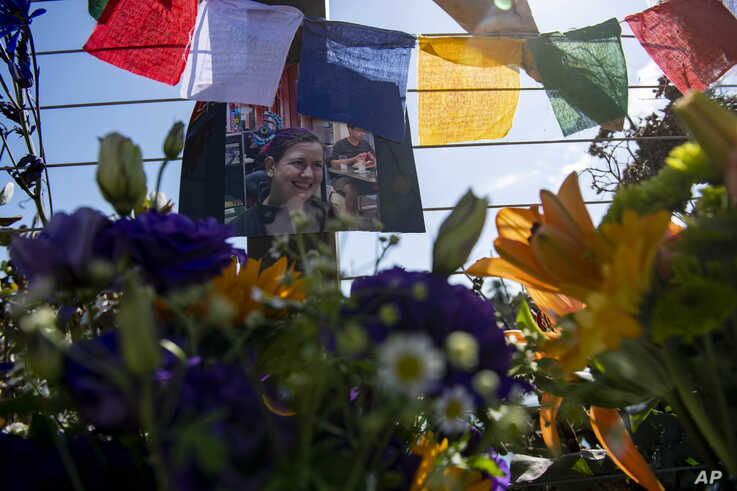 Photographs of loved ones lost in the fire on the dive boat Conception are placed at a memorial on the Santa Barbara Harbor on Wednesday, Sept. 4, 2019, in Santa Barbara, Calif. A fire raged through the boat carrying recreational scuba divers…