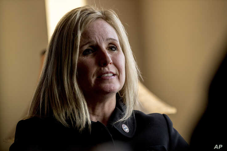 Wendy Woolcok, the special agent in charge of the Drug Enforcement Administration's special operations division, speaks during…