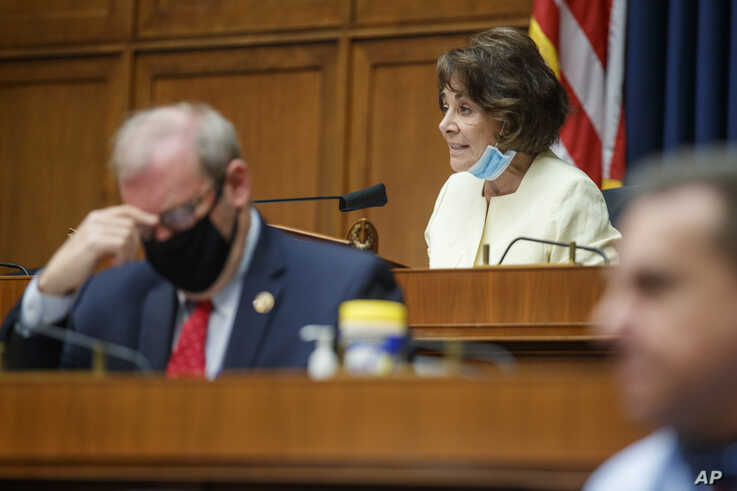 Chairman Rep. Anna Eshoo, D-Calif., gives her opening statement during a House Energy and Commerce Subcommittee on Health…