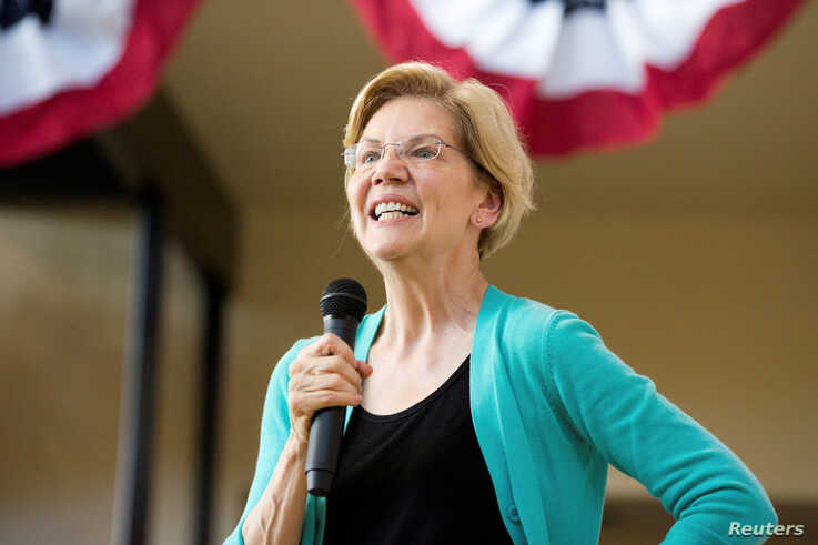 FILE - Democratic 2020 presidential candidate Elizabeth Warren makes one of a series of local visits in Fairfield, Iowa, May 26, 2019.