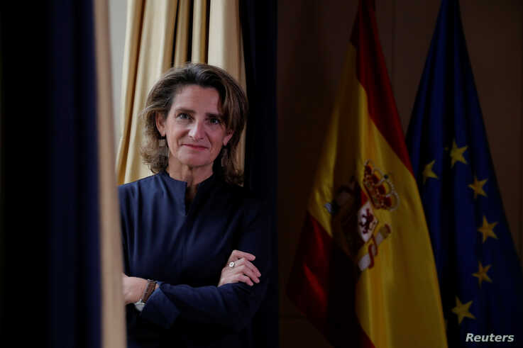 Spain's Energy and Environment Minister Teresa Ribera poses before an interview with Reuters at the ministry headquarters in…