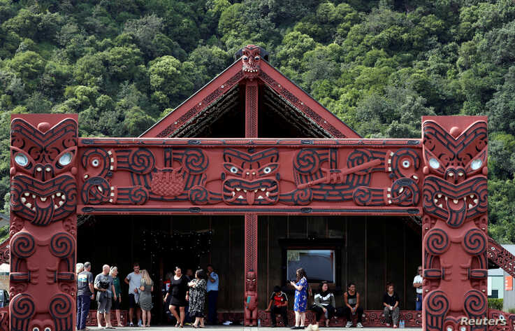 Relatives wait for rescue mission at Mataatua Mare house, following the White Island volcano eruption in Whakatane, New Zealand…
