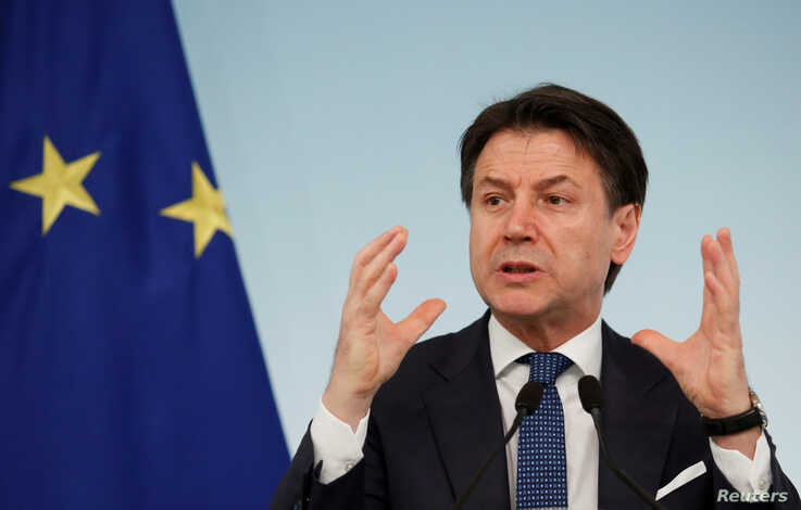 Italian Prime Minister Giuseppe Conte speaks during a news conference due to coronavirus spread, in Rome, Italy March 11, 2020…