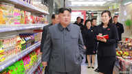 FILE - North Korean Leader Kim Jong Un visits Taesong Department Store just before its opening, in this photo released April 8, 2019, by North Korea's Korean Central News Agency.