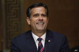 In this May 5, 2020, photo, Rep. John Ratcliffe, R-Texas, testifies before the Senate Intelligence Committee during his…