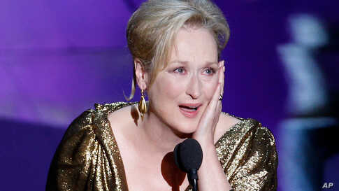 """Actress Meryl Streep won the Oscar for Best Actress for her role in """"The Iron Lady."""" (AP)"""