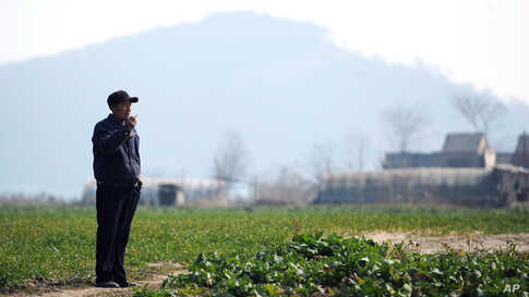 A farmer at his vegetable field near the Yangtze River in Wuhu, China, February 3, 2012. Officials traveling with Xi announced plans to purchase $4.3 billion worth of U.S. soybeans. (Reuters)
