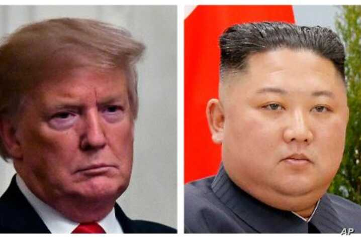 From left, U.S. President Donald Trump and North Korean leader Kim Jong Un.