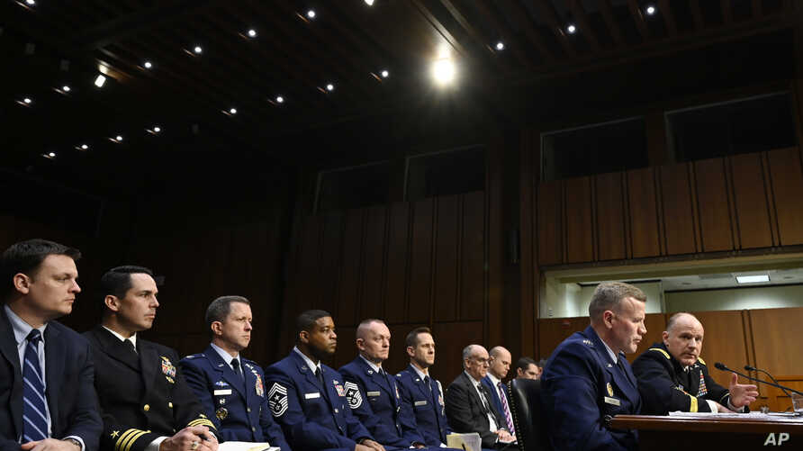 Gen. Tod D. Wolters, commander of U.S. European Command and NATO Supreme Allied Commander Europe, second from right, and Gen…