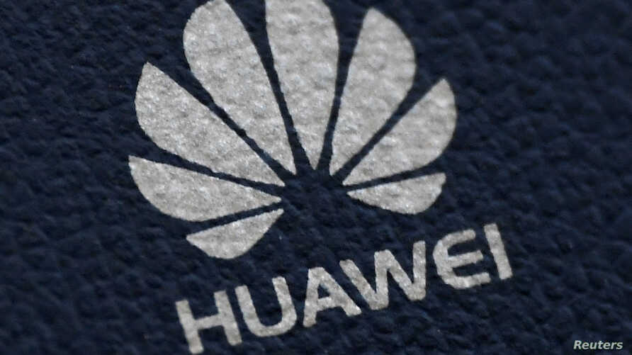 The Huawei logo is seen on a communications device in London, Britain, January 28, 2020. REUTERS/Toby Melville
