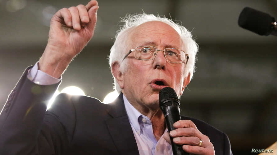 U.S. Democratic 2020 presidential candidate Senator Bernie Sanders speaks at a campaign rally in the Tacoma Dome in Tacoma,…